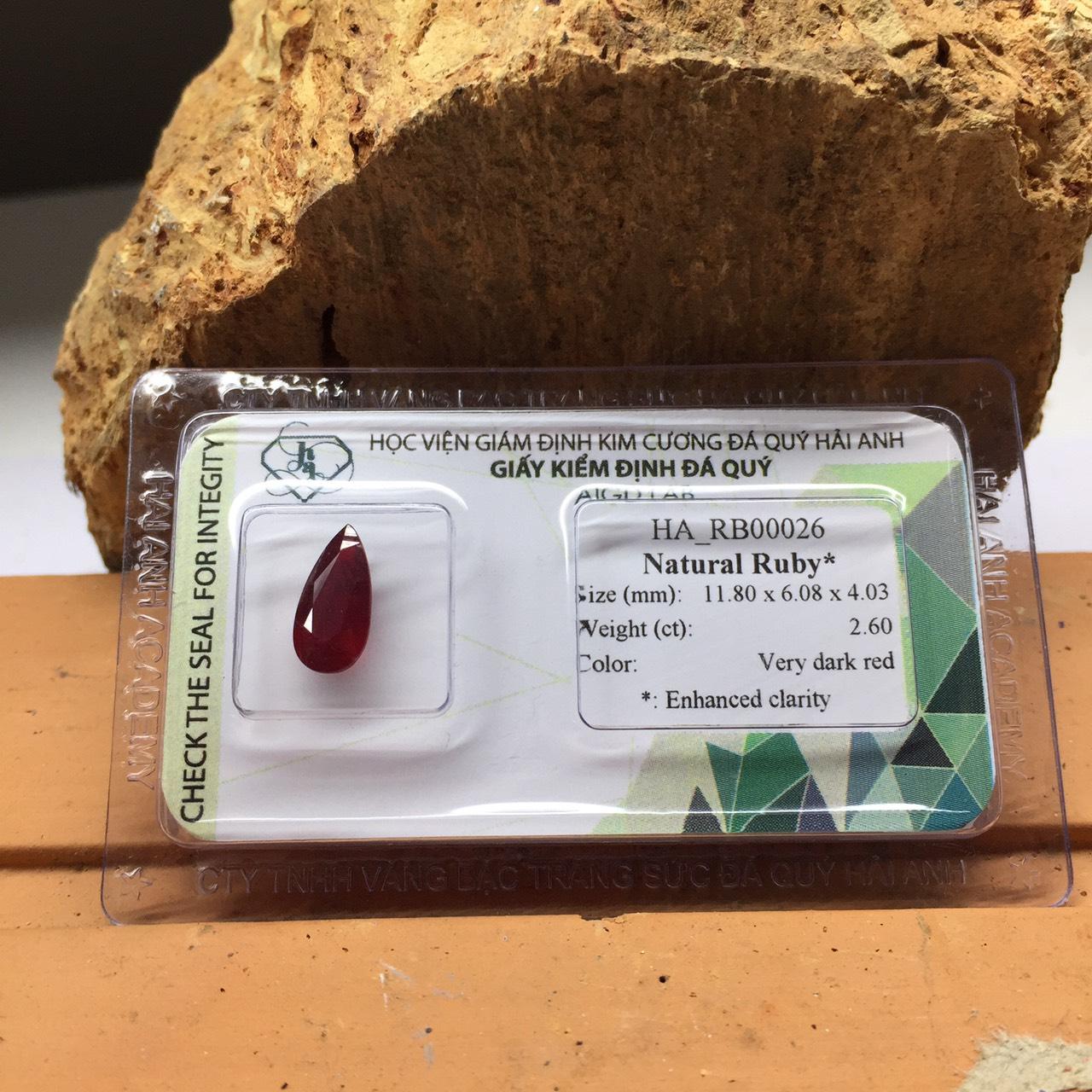 Viên đá Ruby thiên nhiên_HA-RB00026