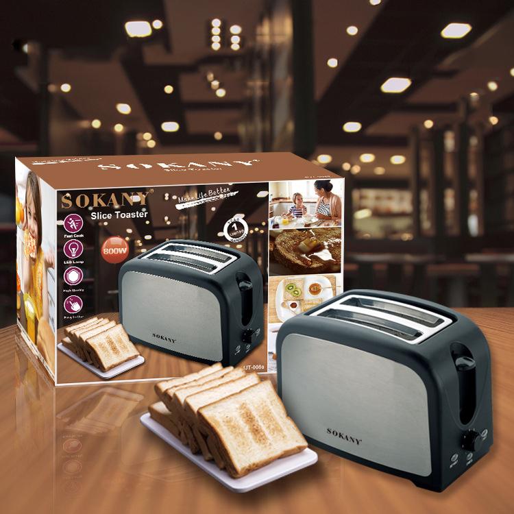 Máy nướng bánh mỳ sandwich  SOKANY  HJT 008s , 800W - Hàng chính hãng