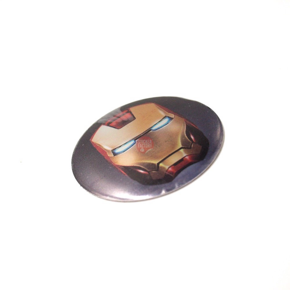 Sticker metal dán mâm xe hơi tròn 5.5cm - Iron man miếng lẻ