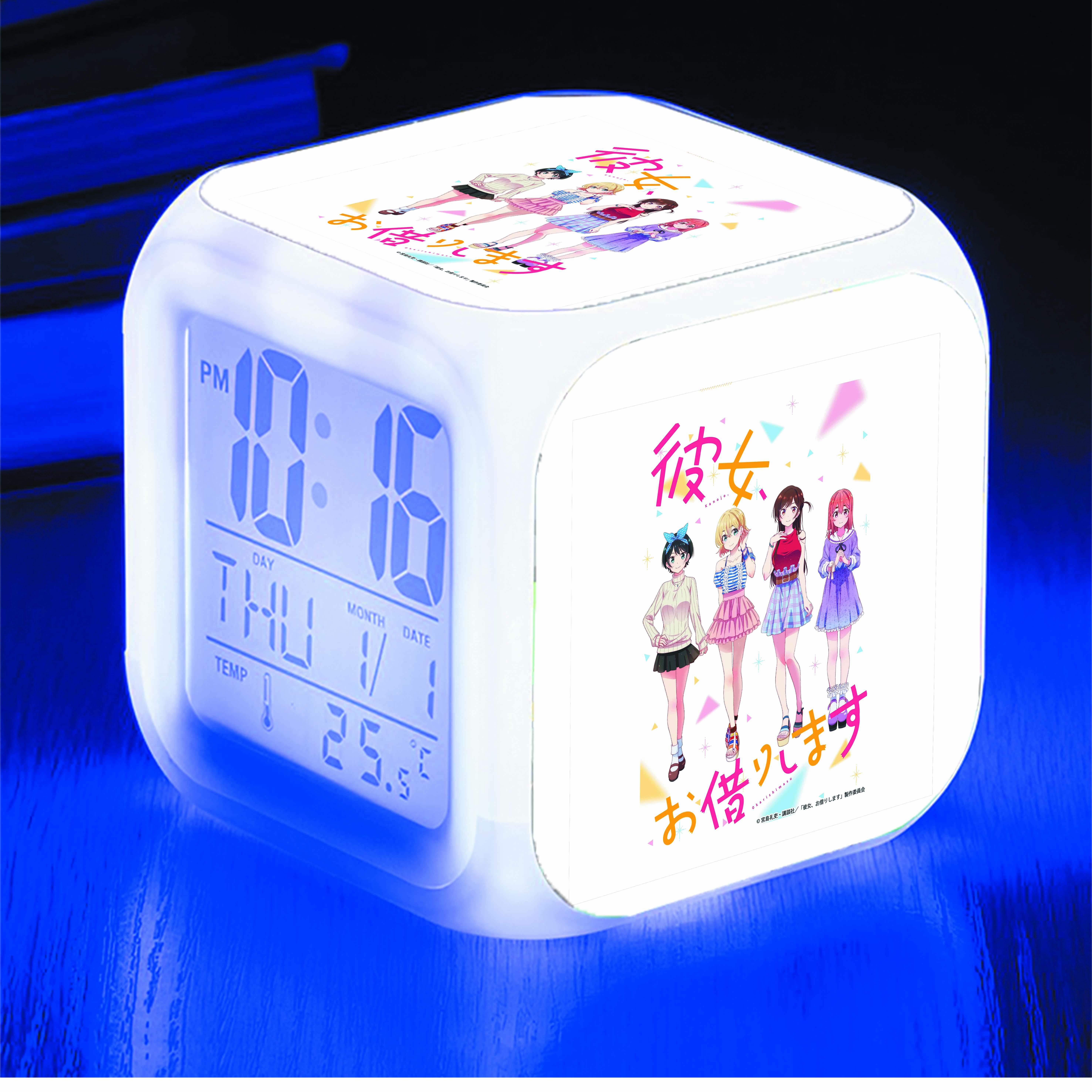 Đồng hồ báo thức để bàn IN HÌNH Kanojo, Okarishimatsu - Dịch Vụ Thuê Bạn Gái anime