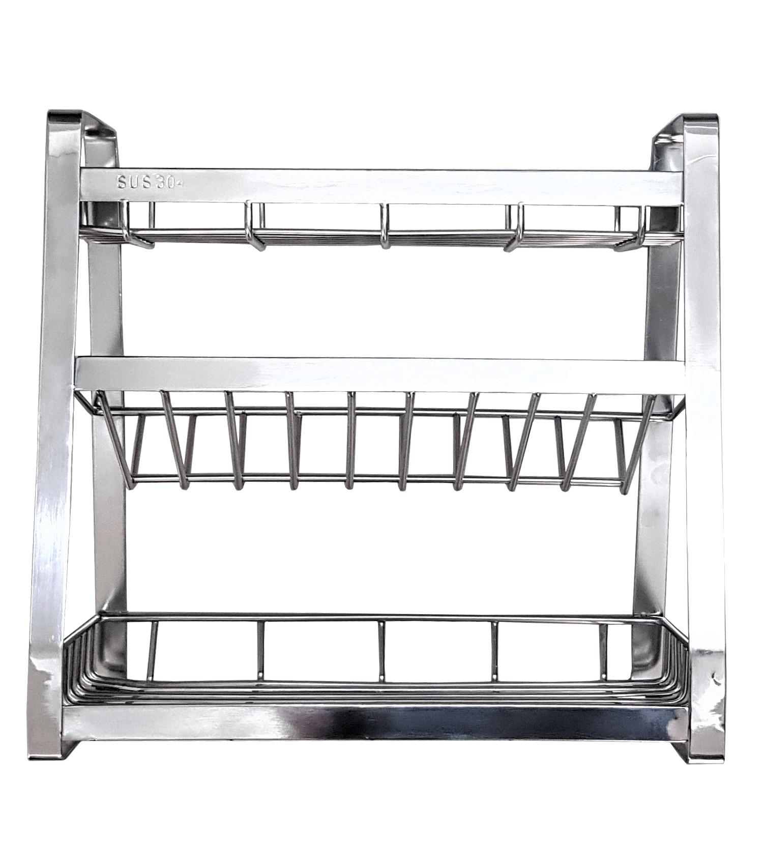 Kệ gia vị nhà bếp cao cấp INOX 304 láp 2,8 ly - KT ngang 50cm