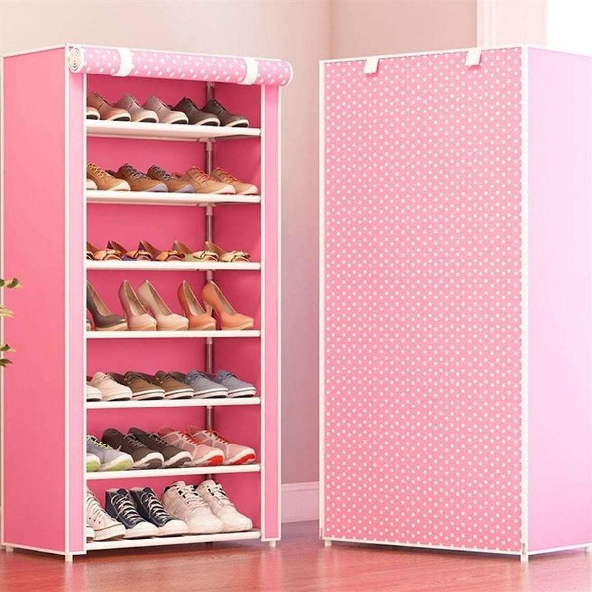 Tủ để giày 7 tầng đa năng, thiết kế nhỏ gọn, dễ dàng di chuyển tới nhiều không gian khác nhau