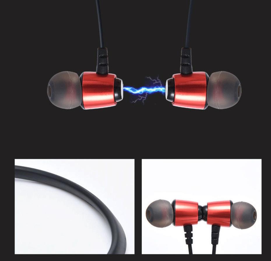 Tai Nghe Bluetooth 5.0 BONKS-D01, Tai Nghe Thể Thao Âm Thanh Bass Mạnh Cực Hay, Hỗ Trợ Thẻ Nhớ - Hàng Chính Hãng