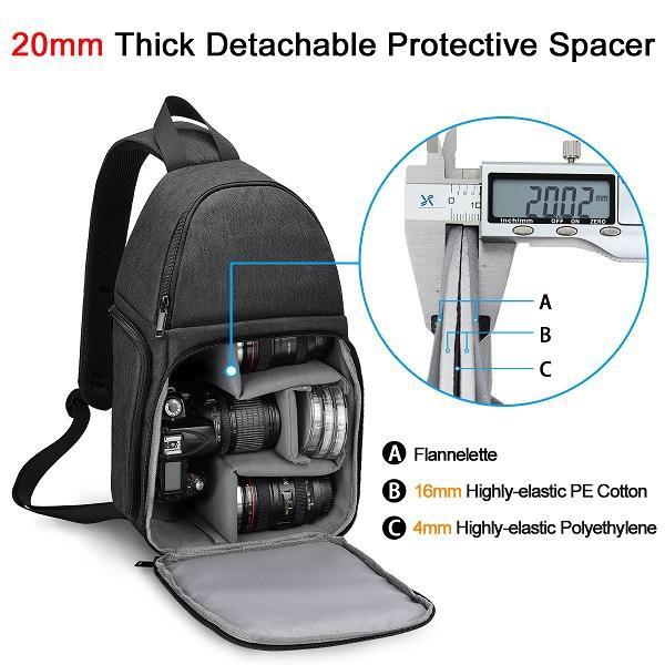 Balo máy ảnh đeo chéo quai thao tác nhanh D15