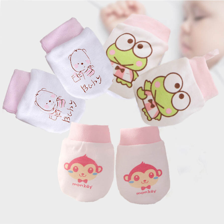 9i9 long love long baby anti-grab gloves 3 pairs of spring and summer thin section breathable belt adjustable newborn gloves 1800833 female treasure