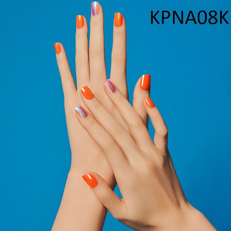 Bộ 30 Móng Tay Gel Dán Press & Go Kiss New York Nail Box - Warm Orange (KPNA08K)