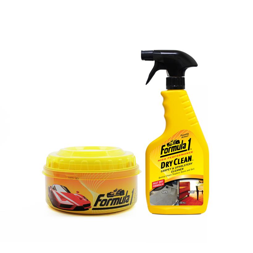 Chăm sóc nội thất xe Formula 1: Giặt nệm khử mùi dạng xịt-Sáp đánh bóng hộp lớn-Sáp thơm ô tô trực thăng