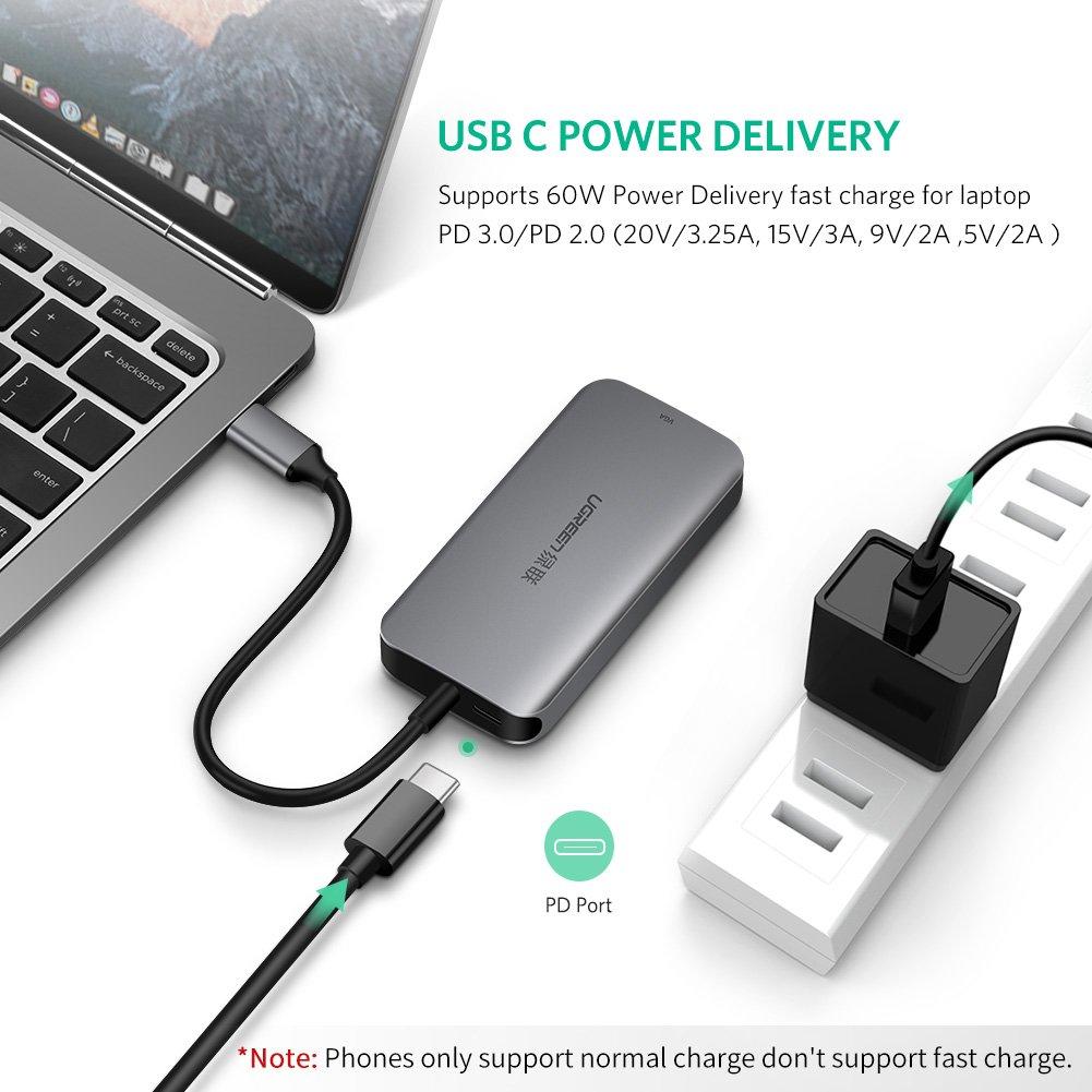 Cáp USB Type C to VGA, Hub USB 3.0 Ugreen 50210 - Hàng Chính Hãng