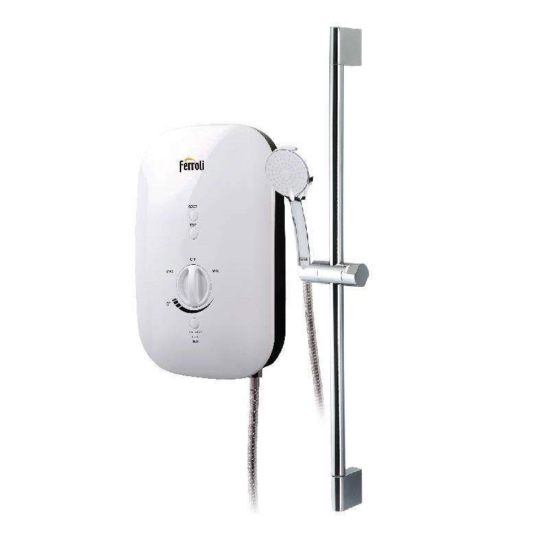Bình nước nóng FERROLI DIVO SSP 4500W siêu mỏng tiêu chuẩn, có bơm tăng áp - hàng chính hãng
