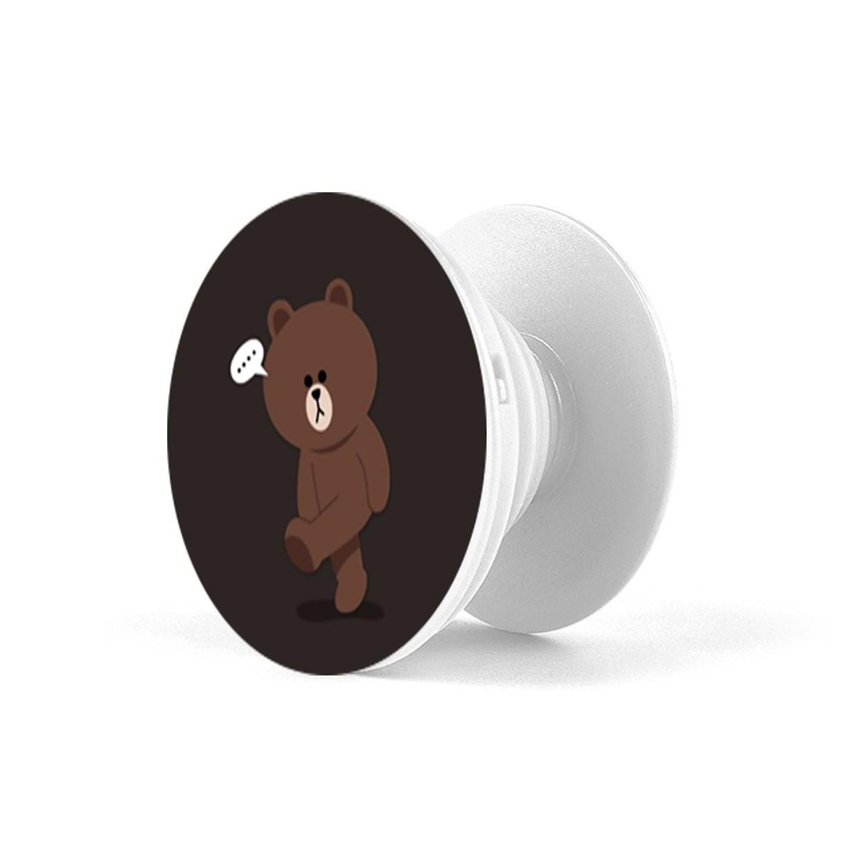 Popsocket - Giá đỡ điện thoại đa năng iCase Gấu Nâu - Hàng Chính Hãng