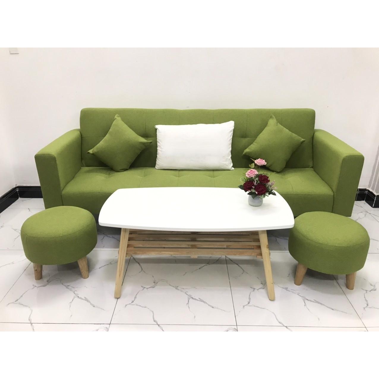 Bộ ghế sofa giường 2mx90 sofa bed tay vịn phòng khách sopha salon linco15