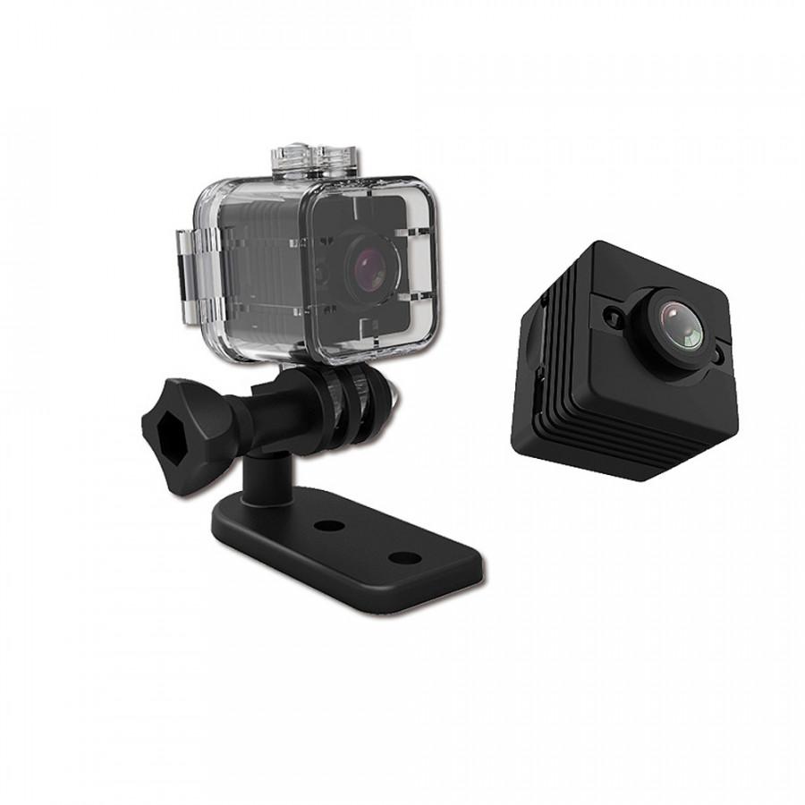 Camera thể thao mini siêu nhỏ INTELHAWK SQ12 - Chống nuớc Full HD 1080P- Hỗ trợ đèn hồng ngoại - Chính hãng - Hàng Chính Hãng