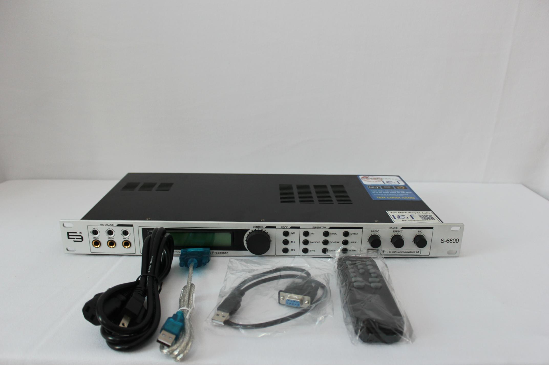 Mixer E3 S6800  Karaoke Kỹ Thuật Số Đa Chức Năng Chuyên Nghiệp Cho Dàn Âm Thanh( hàng chính hãng )