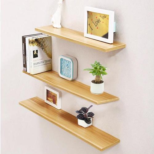 Kệ treo tường 40,50,60 x sâu 15cm Màu gỗ dùng trang trí phòng khách sang trọng