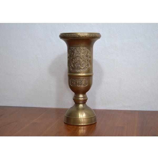 Ống hương bằng đồng hun giả cổ