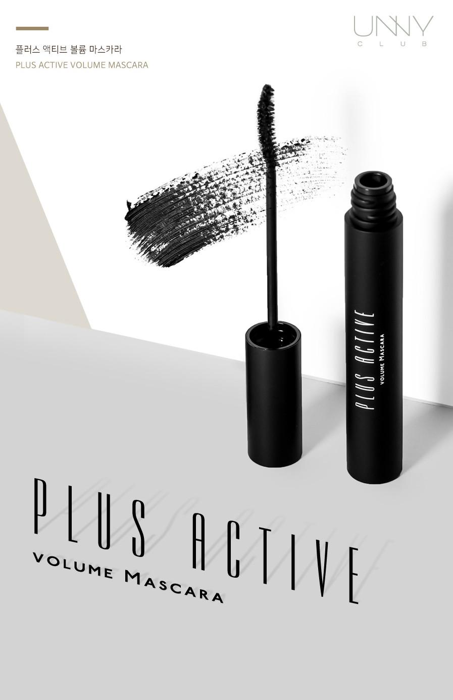 Mascara làm cong và dày mi Unny Club Plus Active Volume Mascara - thương hiệu Unny Club