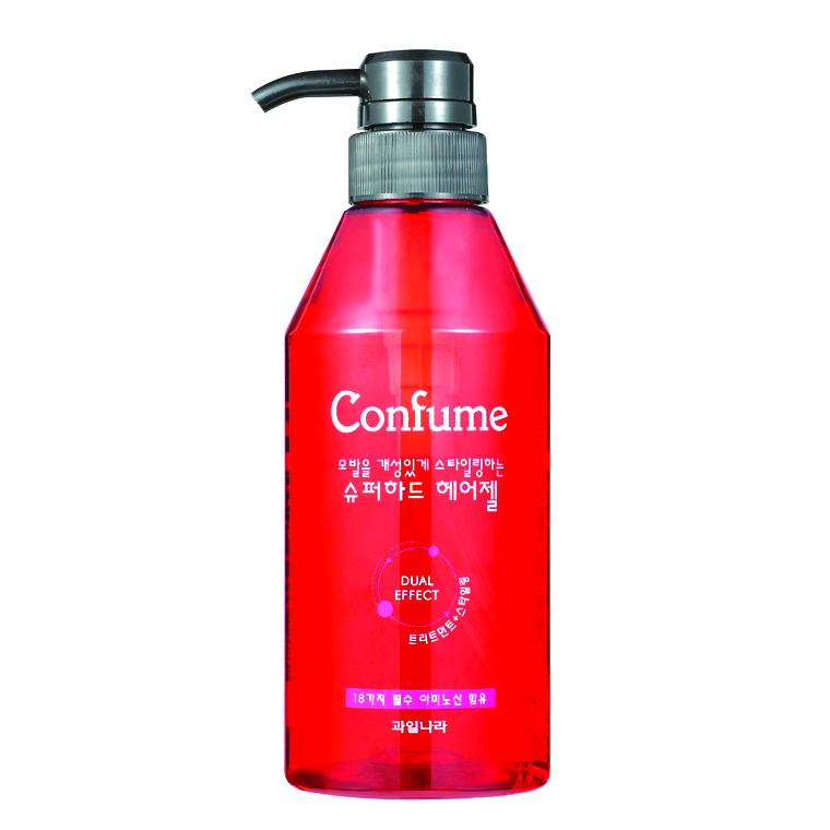 Gel đặc siêu cứng, khô nhanh giữ lọn xoăn Confume Super Hair Hàn Quốc 400ml + Móc khóa