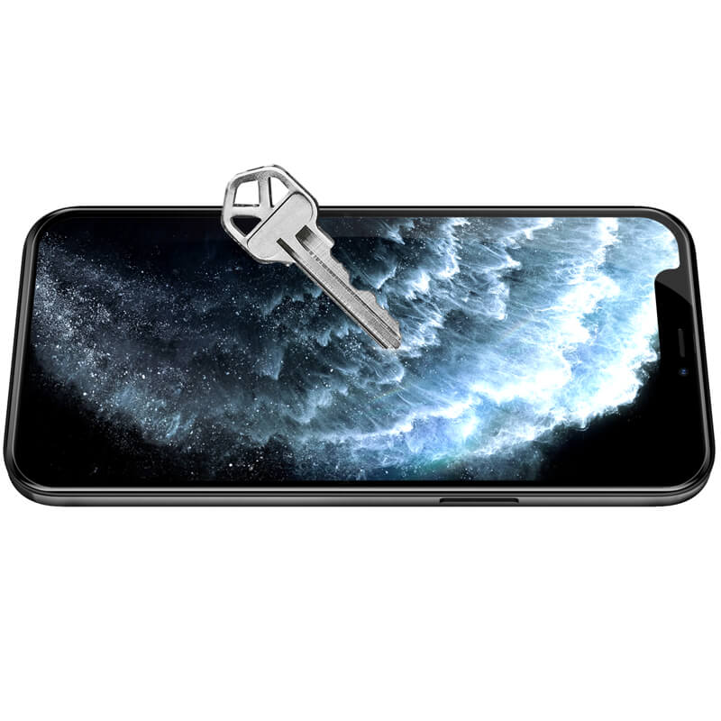 Miếng dán kính cường lực iPhone 12 / iPhone 12 Pro 6.1 inch hiệu Nillkin Amazing CP+ Pro  full màn hình 3D mỏng 0.23mm, Kính ACC Japan, Chống Lóa, Hạn Chế Vân Tay - Hàng chính hãng