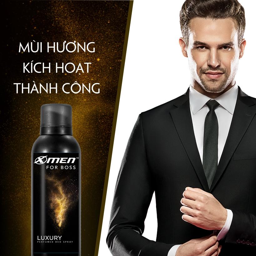 Xịt khử mùi X-Men For Boss Luxury - Mùi hương sang trọng tinh tế 150ml