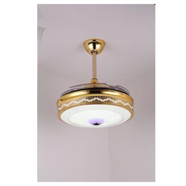 Quạt đèn trần trang trí viền đẹp CAODIEP03