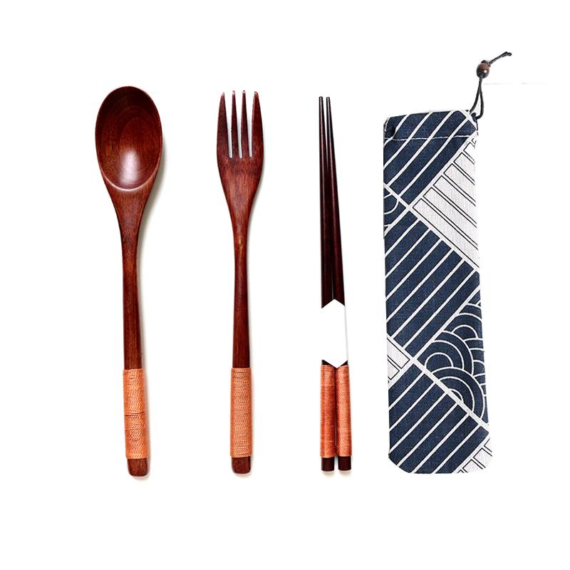 Bộ Muỗng, Nĩa, Đũa (Cao cấp), Tặng kèm Túi vải
