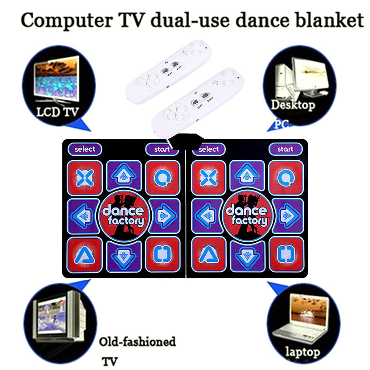Thảm Nhảy Audition Đôi Gấp Gọn Kèm Điều Khiển Thẻ Nhớ Kết Nối TiVi 32 bit