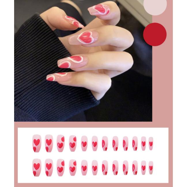 Bộ 24 móng tay giả nail thơi trang như hình