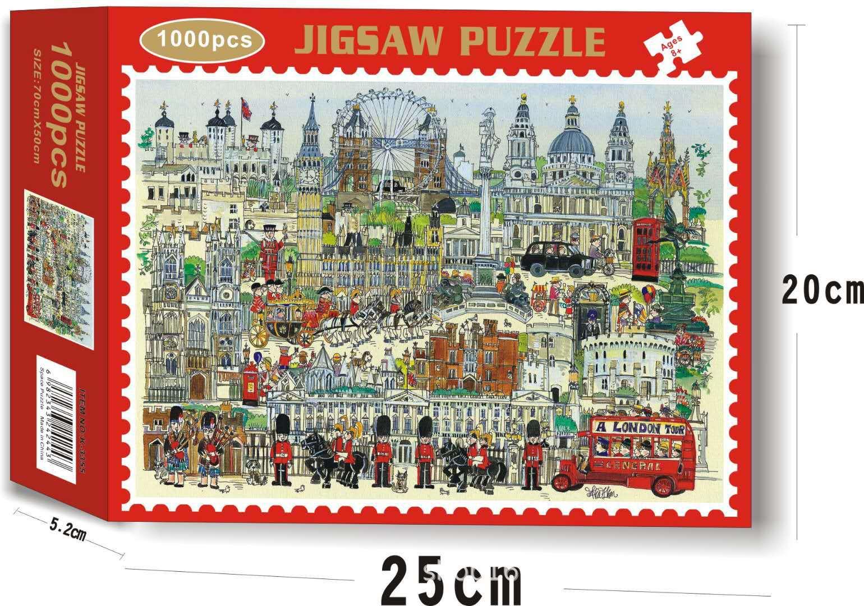 Bộ Tranh Ghép Xếp Hình 1000 Pcs Jigsaw Puzzle (Tranh ghép 70*50cm) London Tự Do Bản Thú Vị Cao Cấp