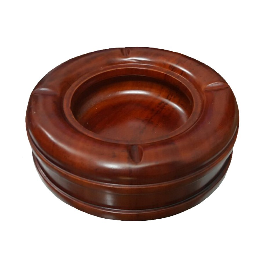 Gạt tàn thuốc gỗ hương đỏ (Gia công nguyên khối, 13cm x 5cm) - Độc đáo, Lịch sự, đẹp cổ điển