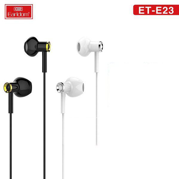(TẶNG DÂY TREO ĐIỆN THOẠI) Tai nghe màu đen/trắng Jack 3.5mm dành cho Iphone/Samsung/Oppo/Vivo - HÀNG CHÍNH HÃNG Earldom