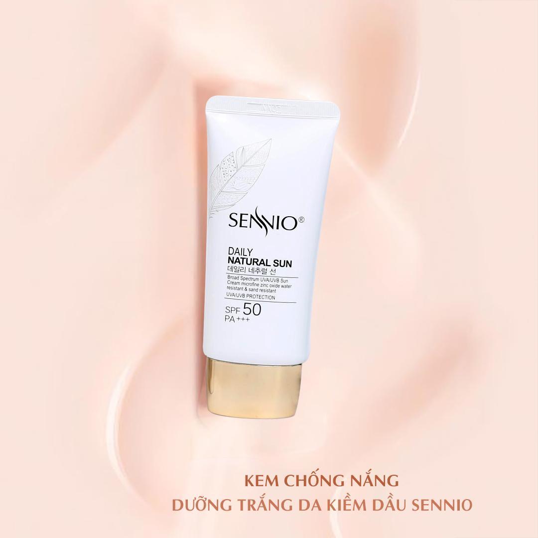 Kem chống nắng dưỡng trắng da kiềm dầu Sennio