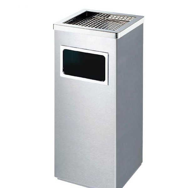 Thùng rác inox có gạt tàn A34-B