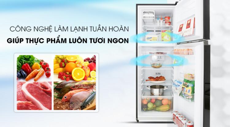 Hệ thống làm lạnh tuần hoàn hiện đại - Tủ lạnh Toshiba Inverter 233 lít GR-A28VM(UKG)