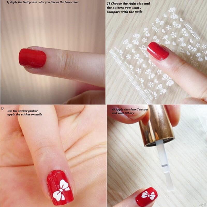 Combo 10 tấm decal dán móng nghệ thuật Nail art Enjoy J350