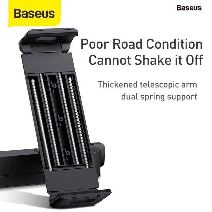 Giá đỡ điện thoại, ipad, máy tính bảng sau ghế ô tô thương hiệu cao cấp Baseus SULR-A01 - Phù hợp kích thước màn hình 4.7 - 12.3 inch - Hàng Nhập Khẩu