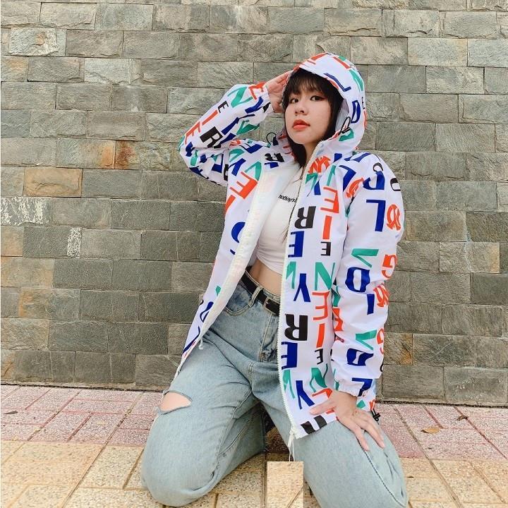 áo khoác nữ dù 3D vải mero
