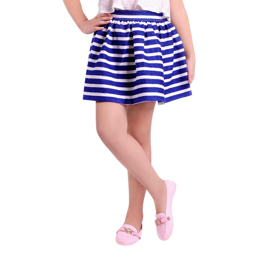 Chân Váy Bé Gái Sọc Xanh Trắng Ugether UKID30 - Sọc Xanh Trắng Size 34