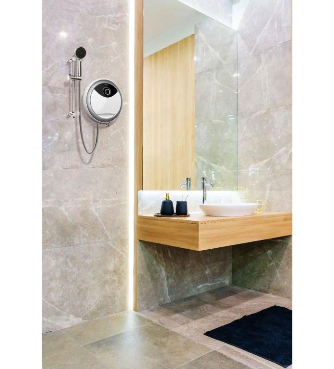 Máy tắm nóng trực tiếp không bơm  Ariston AURES RMC45E SBS VN 4500W - Hàng chính hãng