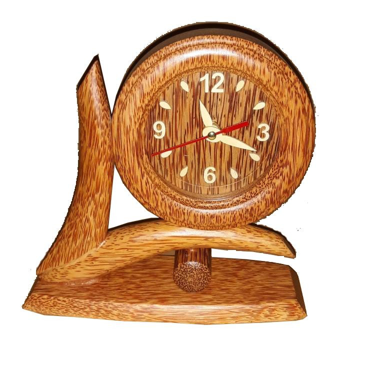 Đồng hồ chiếc lá gỗ dừa