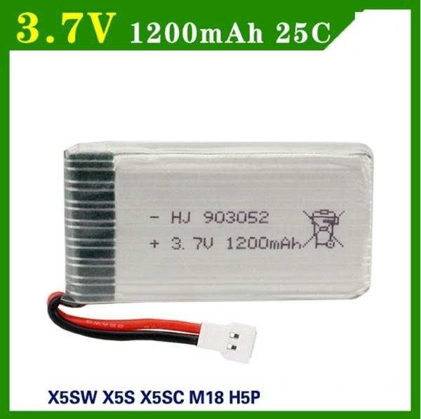 Pin Sạc 3.7V 1200mah Cho Máy Bay Điều Khiển Từ Xa ( X5, X5S, X5C,X5SW..)