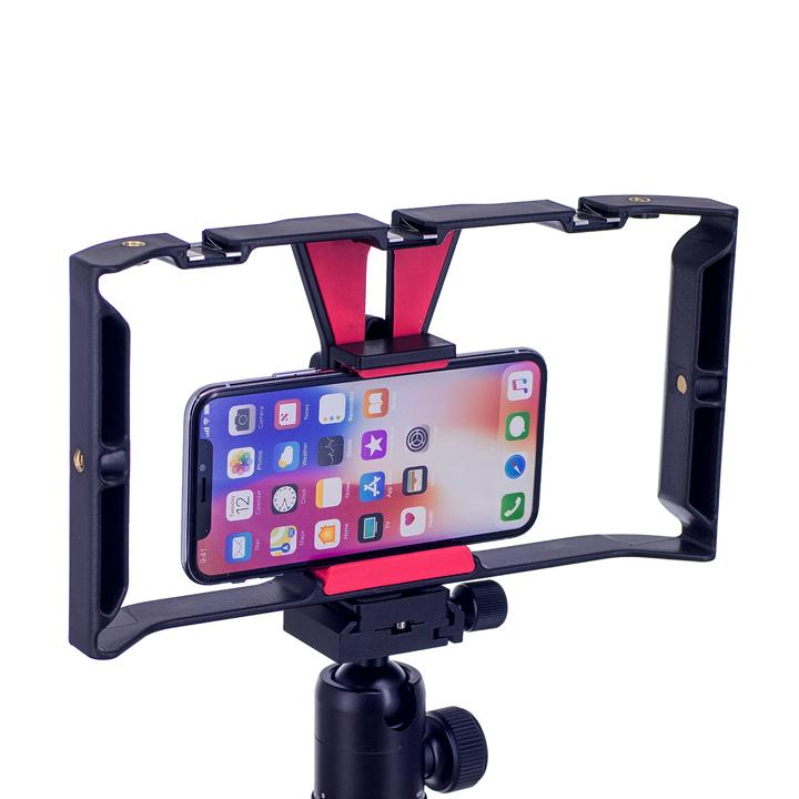 Khung tay cầm điện thoại ổn định quay phim