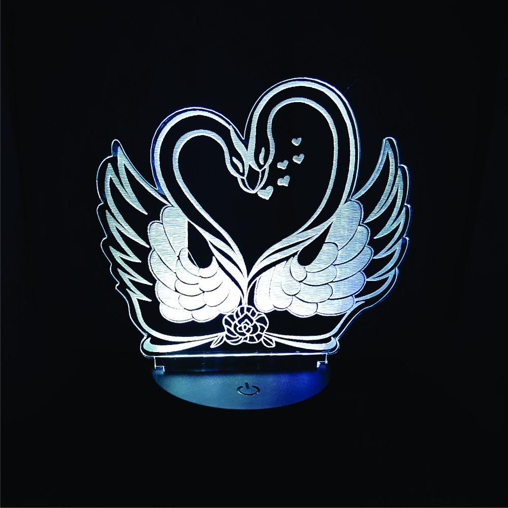 Đèn Thiên nga, Đèn, Đèn Trang trí, đèn 3D led, Đèn ngủ đổi màu, Đèn 16 màu thay đổi, Đế gỗ thân thiện, điều khiển từ xa tiện lợi, Quà tặng ý nghĩa, quà lưu niệm, thiết bị chiếu sáng nhà cửa, bàn làm việc