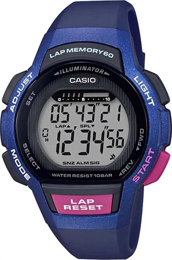 Đồng Hồ Casio LWS-1000H-2AV Chính Hãng - Dây Nhựa Màu Xanh - Chống Nước 100m - Tuổi Thọ Pin 5 năm