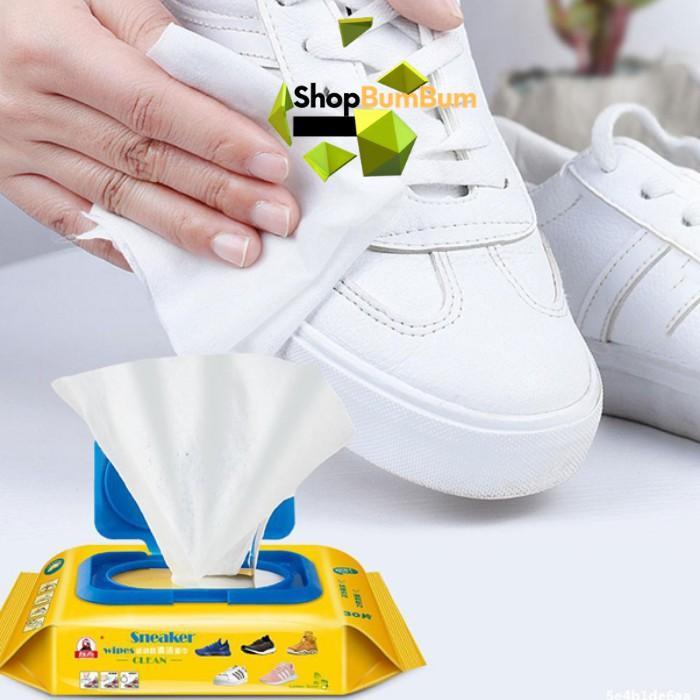 Khăn Giấy Lau Giày SHOES Hộp 30 Tờ Siêu Sạch