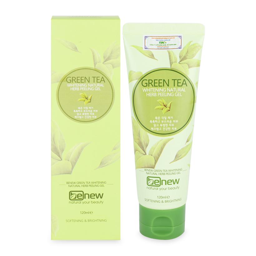 Tẩy da chết trà xanh Green Tea Whitening Natural Herb Peeling Gel (120ml)