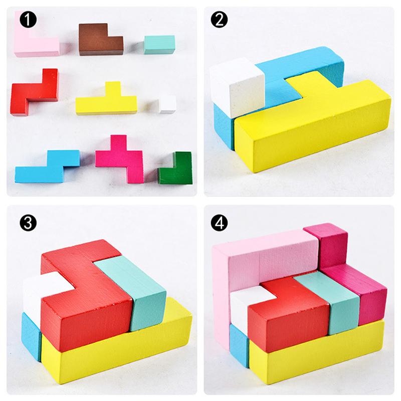 Đồ Chơi Gỗ - Tetris 3D, xếp hình trí tuệ kích thích trí não phát triển