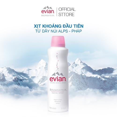 Combo 2 xịt khoáng cấp ẩm và làm dịu da Evian 300ml + 150ml