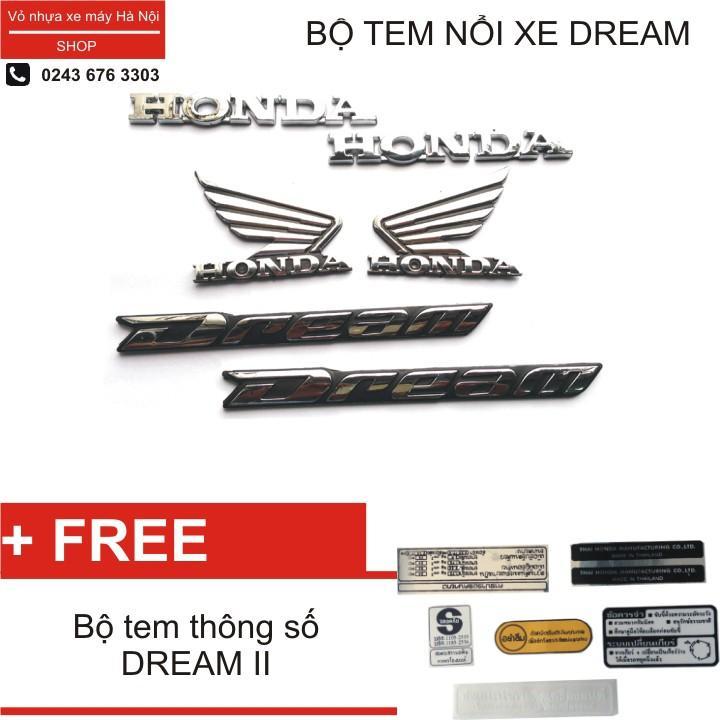 Bộ tem chữ nổi Cánh chim dành cho xe Honda