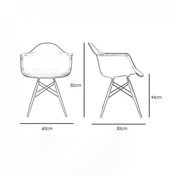 Ghế chân gỗ vải nỉ Kachi Eames E12