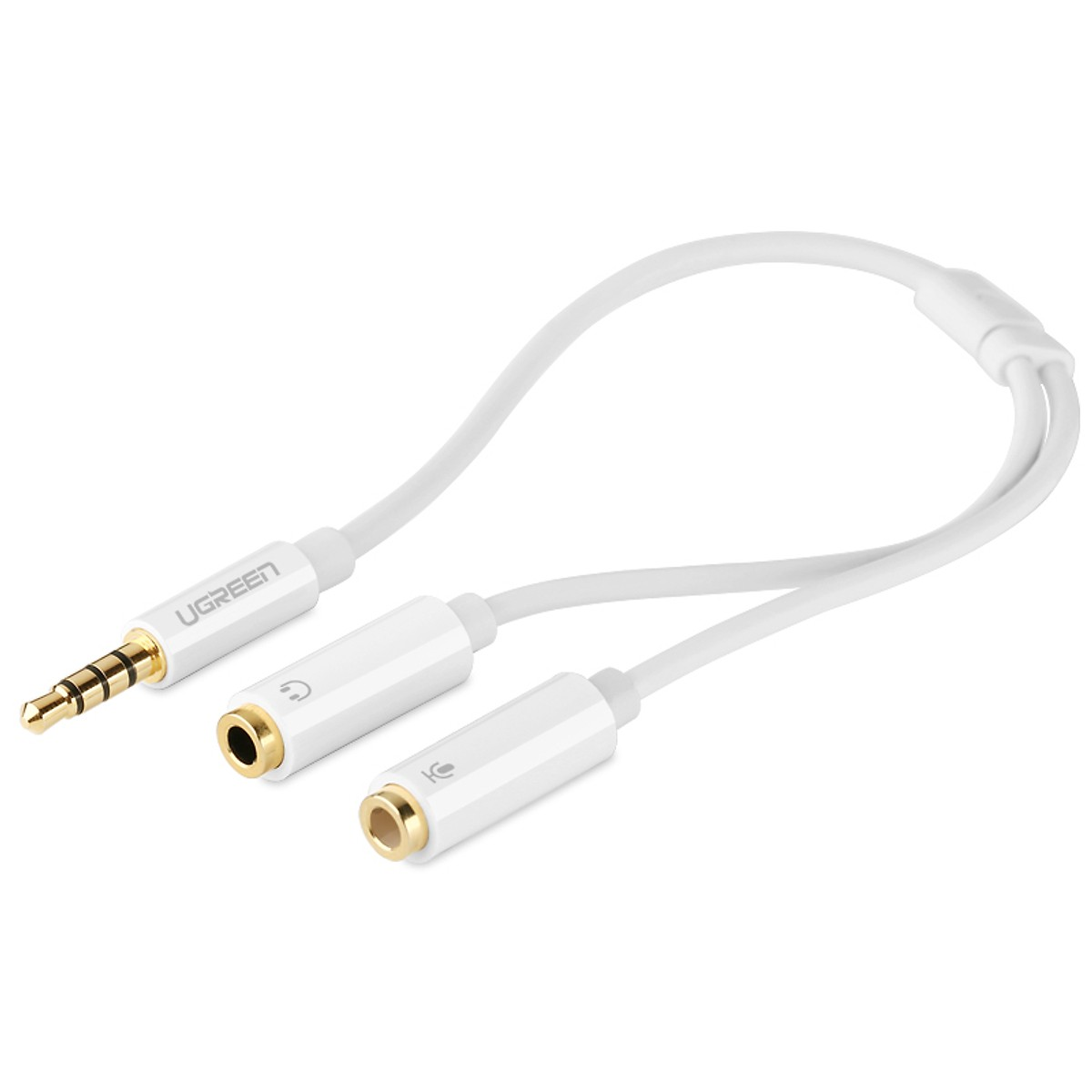 Cáp Chia Jack Ugreen Thành Mic Headphone 10789 - Hàng Chính Hãng